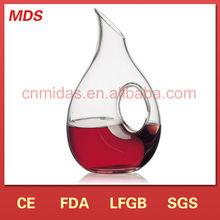 Unique design fancy glass decanter with handle