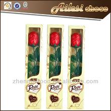 Valentine Barry Callebaut hollow milk chocolate rose in box