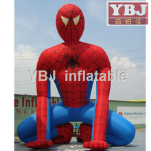 movable inflatable spider-man cartoon/professional moving cartoon/outdoor cartoon