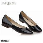 2014 Hottest Newest ladies flat shoes Black Designer Shoe Manufacturer Soft PU black ladies flat shoes