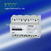 LOGOS Electronic Three phase Din Rain Mounted energy meter LEM021AG multi function energy meter