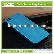 2013 Luxury Jewelry Blue Brushed Titanium Case for iPhone 5 5S Metal Case