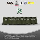 Stone coated metal roofing material asphalt shingles