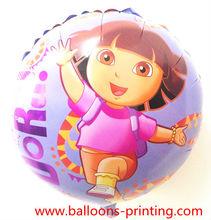 "18"" Dora Foil Balloons Round Shape Party Decorations"