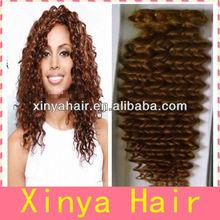 Fast Delivery Best seller weft hair Brazilian light color deep curl weaving