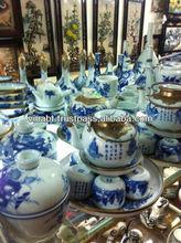 Antique Indochine style tea set for unitique restaurant made in at Trang ceramic village by VINABT Co. Vietnam