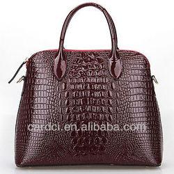 Wholesale high quality brand handbags alligator pattern handbags real leather bag