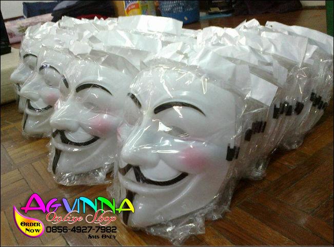 Jual Topeng Vendetta Cool White - Topeng Anonymous - guy fawkes berkualitas