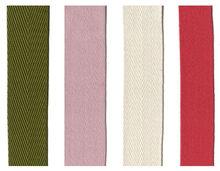 "Textile fabric ribbon ""Twill type"""