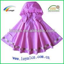 pvc raincoat for girls 100% waterproof