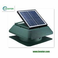 solar powered battery operated exhaust fan for sloped/asphalt shingle/wood shake roof/concrete tile