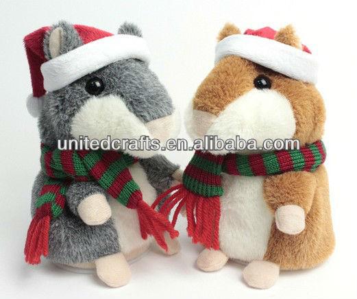 2013 NEWEST Christmas repeating hamster/lovely talking hamster for children