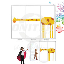 Shower,Cartoon Shower Screen, Shower Enclosure, Bathroom, Bi-Fold Type Shower