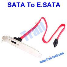 SATA to eSATA 7Pin Extension Cable, External eSATA PCI Bracket