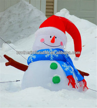 outdoor decoration big inflatable snowman for christmas