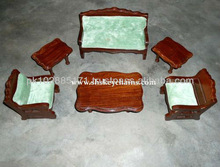 Miniature Wooden Sofa Set with tables