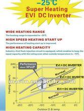 DAIKIN heat pump,New MACON EVI DC AC INVERTER floor heating Heat Pump for cold area with CE