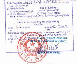 Certificate Attestation from Vietnam Embassy/Consulate in Ahmedabad Gandhinagar Mehsana Nadiad Rajkot Surat Vadodara Gujarat