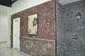 lava roja cultivadas de piedra del azulejo 061