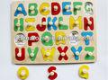 الحروف الأبجدية التعليمية الملونة متعة-- لغز خشبي التي أثيرت