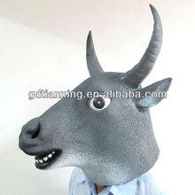 Creepy Cow Mask Head Halloween Mask, Buffalo Latex Rubber Mask