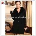 donne maglione cashmere cappotto di lusso con pelliccia di volpe collare