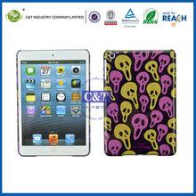 C&T Skull design plastic back cover for ipad mini smart case