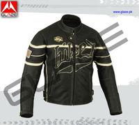 custom motorcycle armored jacket in cowhide leather