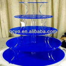 China hot sale newest acrylic cake display shelf