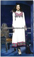 LONG PAKISTANI AND INDIAN STYLE EMBROIDRY DRESS
