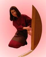traditional kyoto chabaori uniform with wrap skirt and apron