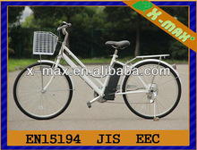 X-EB38 2013 Fashion 24'' 24V 5ah battery in frame electric bike withSHIMANO 6Speed gears