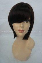 New Fashion Black 100% Human Hair Short Woman Wigs