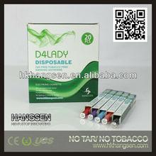 super slim e cigarette for ladies only slim disposable e cigarette from Hangsen e slim cigarette