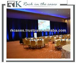 RK pipe and drape wall drapery
