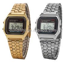 2013 LCD automatic watch men women branded watch japan movt quartz watch stainless steel back