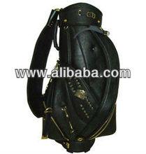 "2013 New Design Top Quality Golf Cart Bag OEM (LT-CB020) 9"" PU/Enamel Golf Bag with Rainhood"