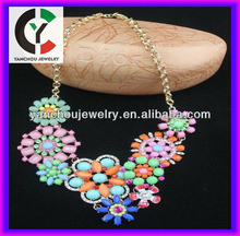 New development multi color resin flower fashionable jewelry
