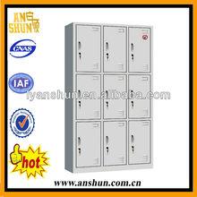 Luoyang 9-door metal closet cabinet /armoire wardrobe