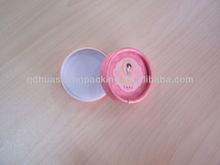 Customized beautiful cosmetic small round paper rigid box