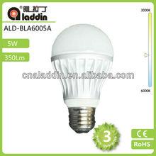 high quality a60 bulb led ceramic 5w 3 years warranty