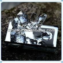 Exquisite Base Aqua Blue Crystal Rose Figurines 2013 For Wedding Brand Promotion