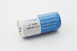 16340 3.7V 880mAh Li ion Battery