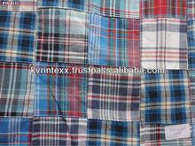 checked fabric for school uniform
