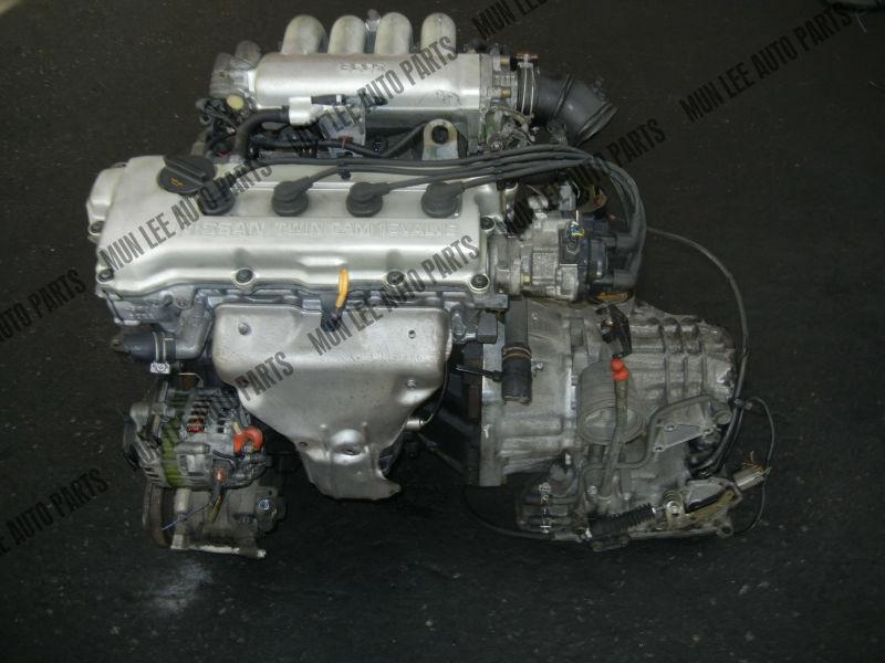 JDM USED ENGINE WITH GEARBOX FOR CAR MODEL NISSAN GA16 GA16DE EFI ...