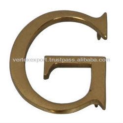 Brass Stylish Alphabets