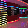 acrylic led bar top,solid surface receiption top