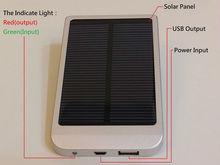 Solar Power Bank 2600MAH Battery 0.7 Watt Solar Panel