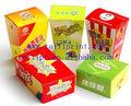 Personalizado de qualidade alimentar caixa de embalagem de pipoca/personalizado feito pipoca caixas/de papelão de embalagem de alimentos caixa