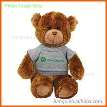 12cm Brown Plush Stuffed Teddy Bear With T-shirt